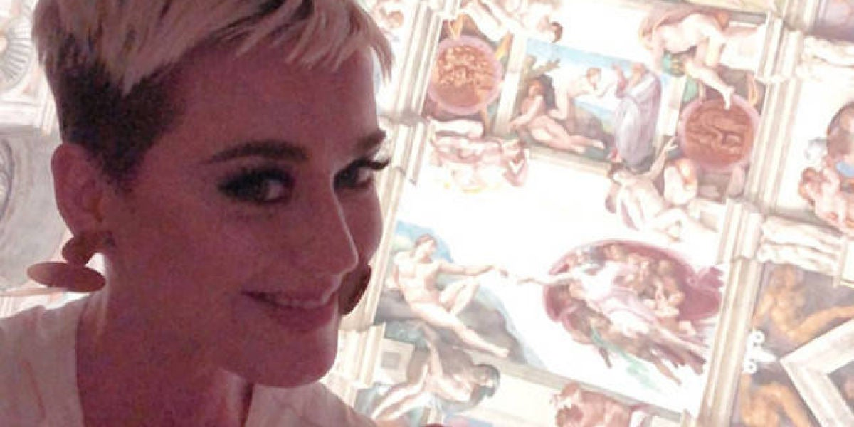 Katy Perry en la Capilla Sixtina