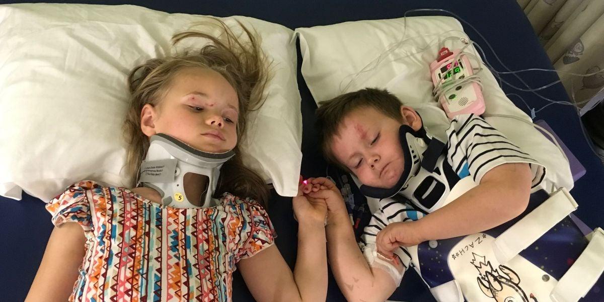El reencuentro entre dos hermanos tras un accidente que les dejó huérfanos