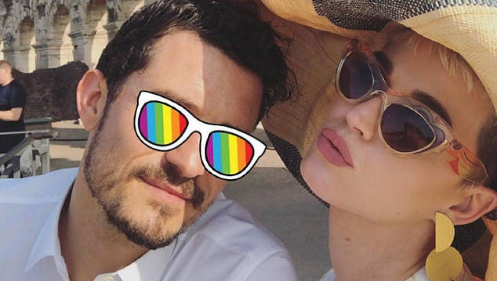 Orlando Bloom y Katy Perry en el Coliseo