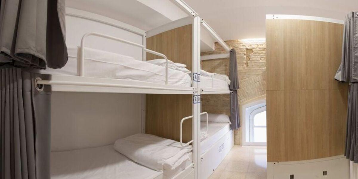 Una de las habitaciones del hostel