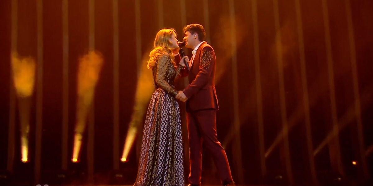 Amaia y Alfred durante su actuación en la final de Eurovisión