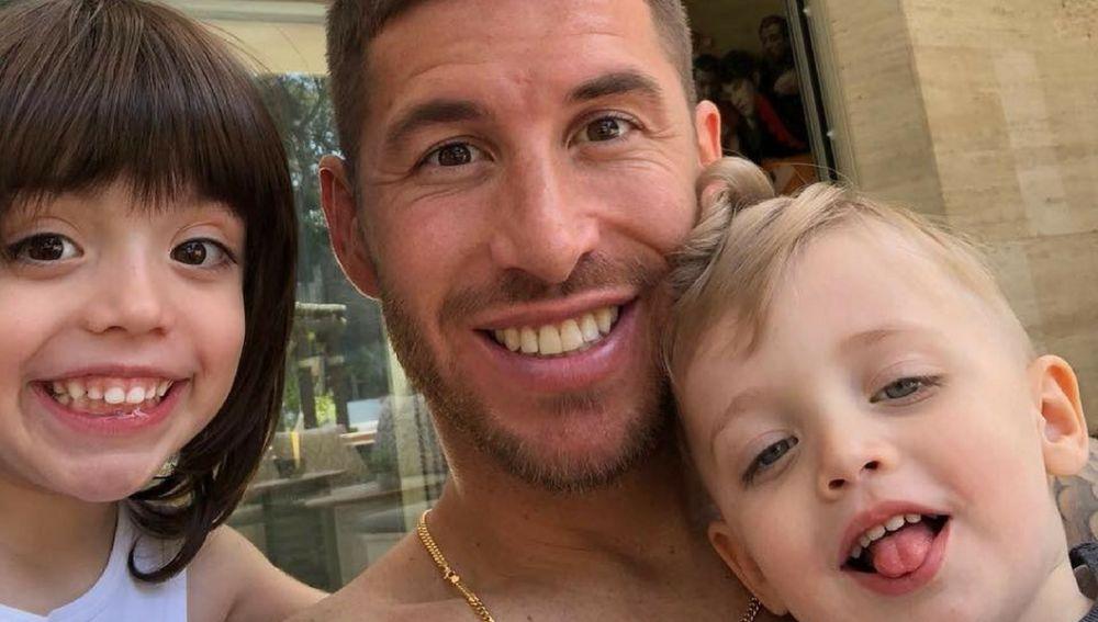 Sergio Ramos con sus hijos