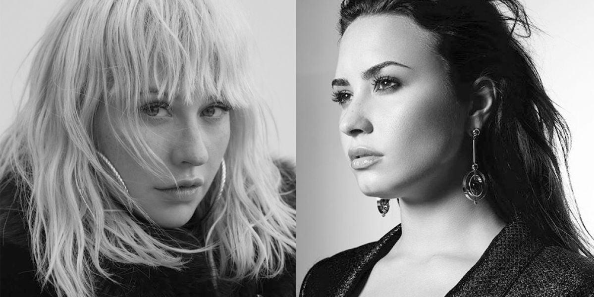 Christina Aguilera y Demi Lovato se unen en 'Fall In Line'