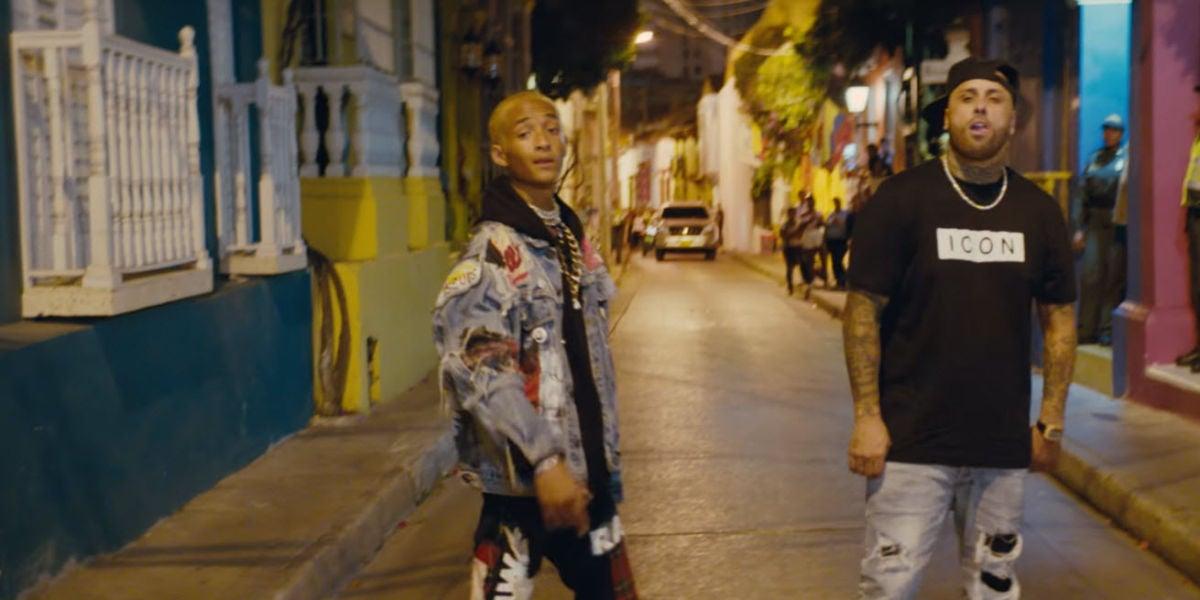 Jaden Smith y Nicky Jam en el videoclip de 'Icon (Remix)'