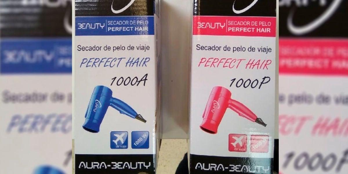 Secador de pelo retirado del mercado