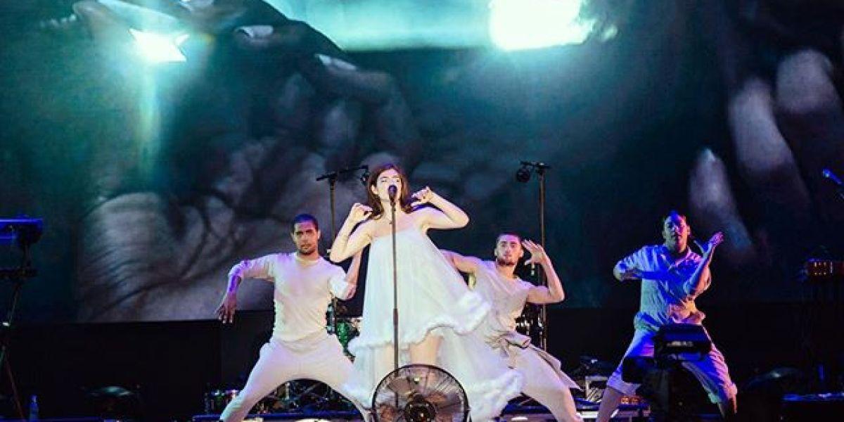 Lorde en su concierto en el Primavera Sound