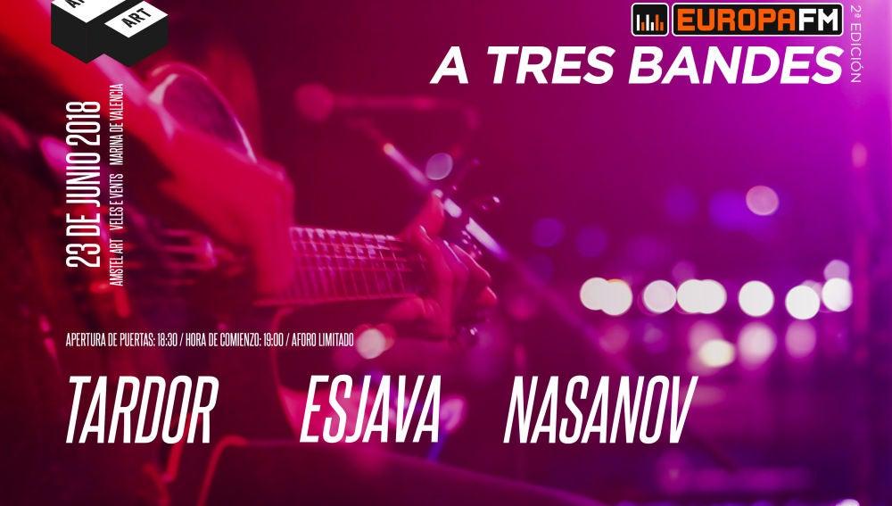 Segunda edición de A Tres Bandes con Tardor, Esjava y Nasanov