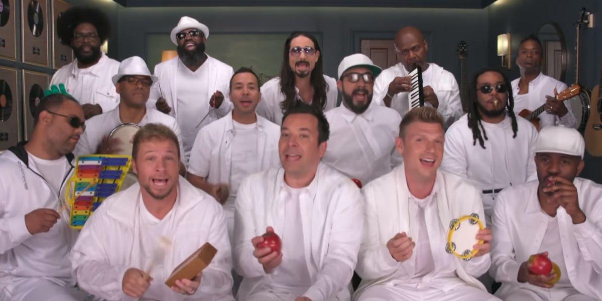 Los Backstreet Boys con Jimmy Fallon cantan 'I Want It That Way' con instrumentos de juguete