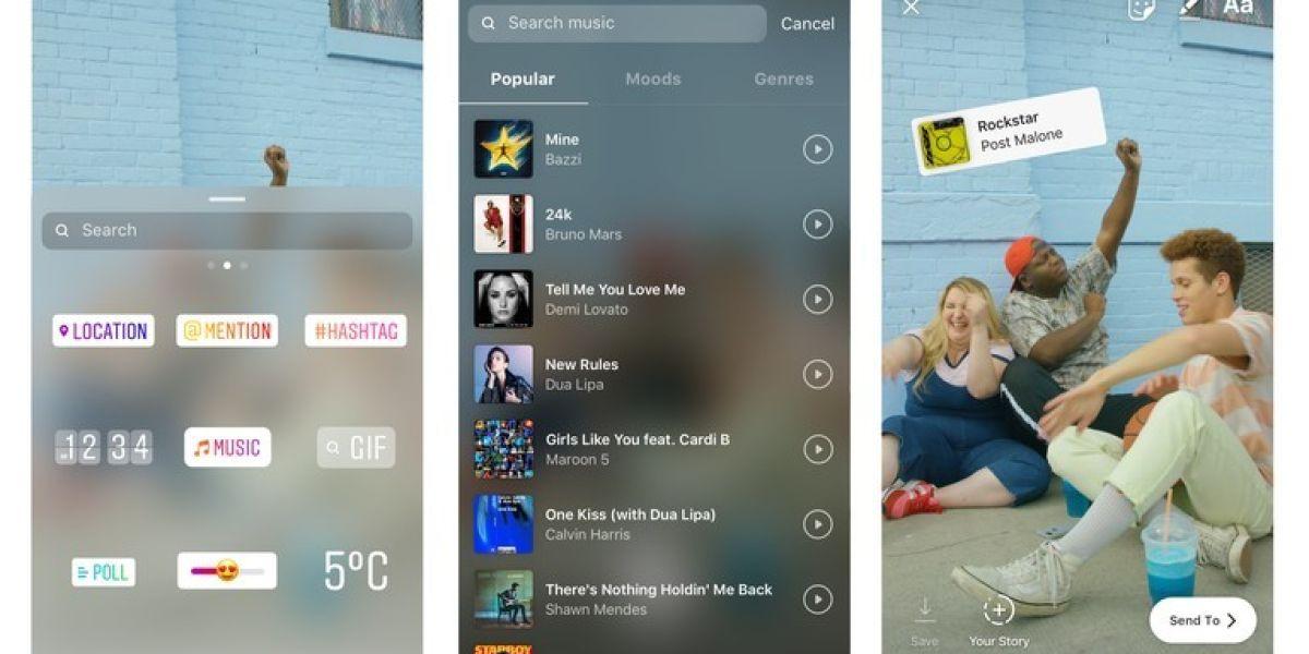 La nueva actualización de Instagram permitirá añadir música a los Stories