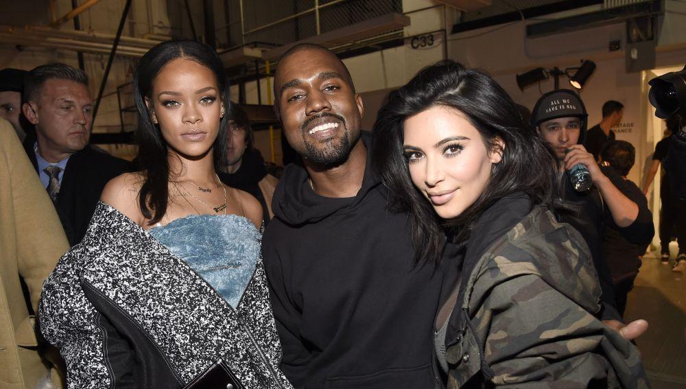 Rihanna, Kanye West y Kim Kardashian