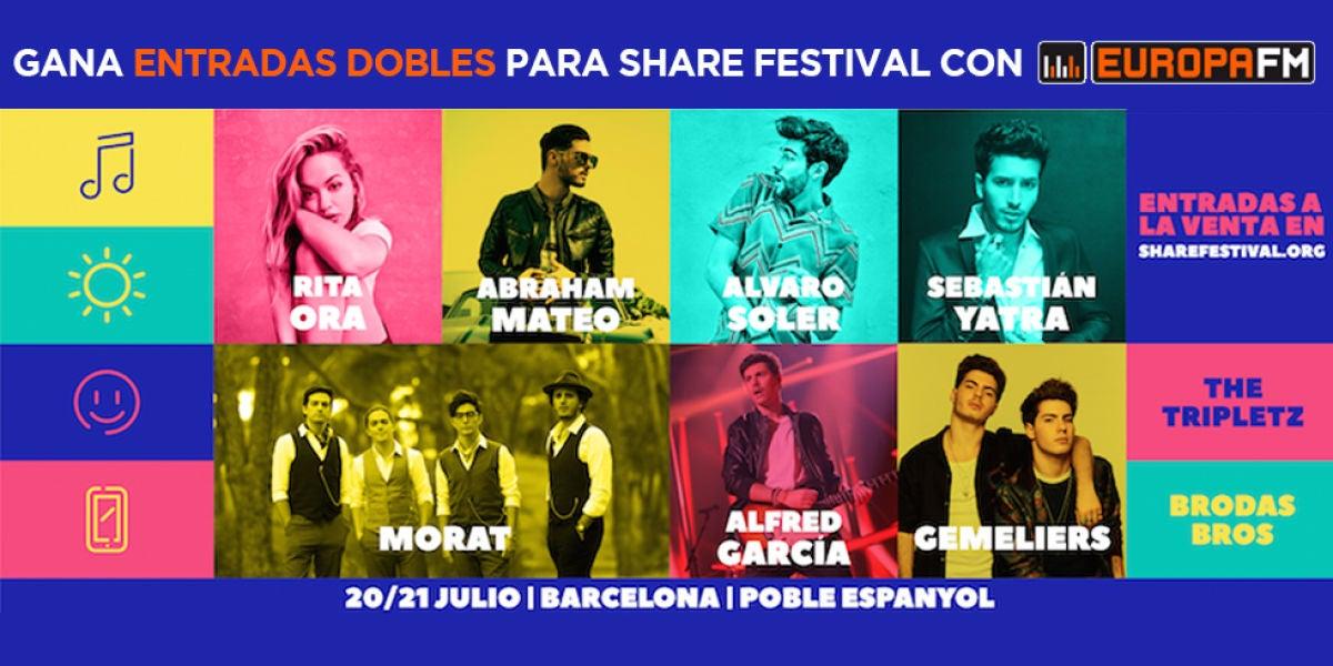 Gana entradas dobles para Share Festival con Europa FM