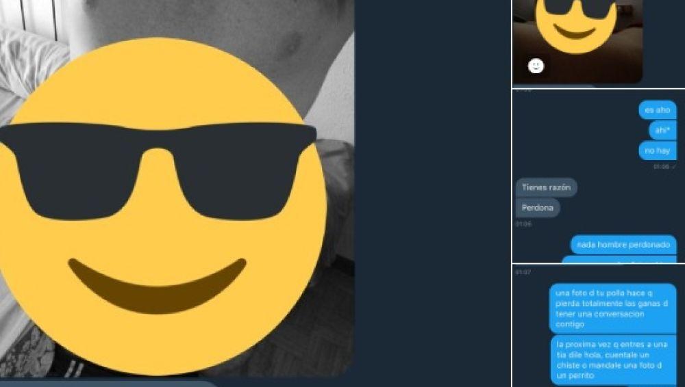 Le envía unas fotos de su pene y ella le rechaza de forma épica, con consejo incluido