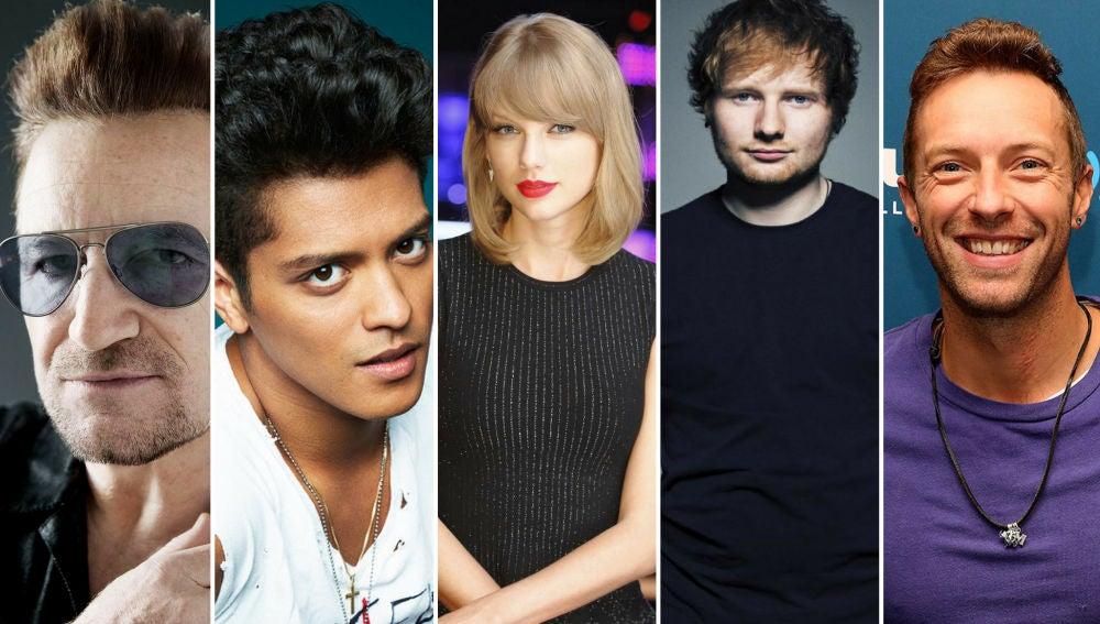 U2, Coldplay y Ed Sheeran se cuelan en el top 10 de los que más ingresaron en 2018