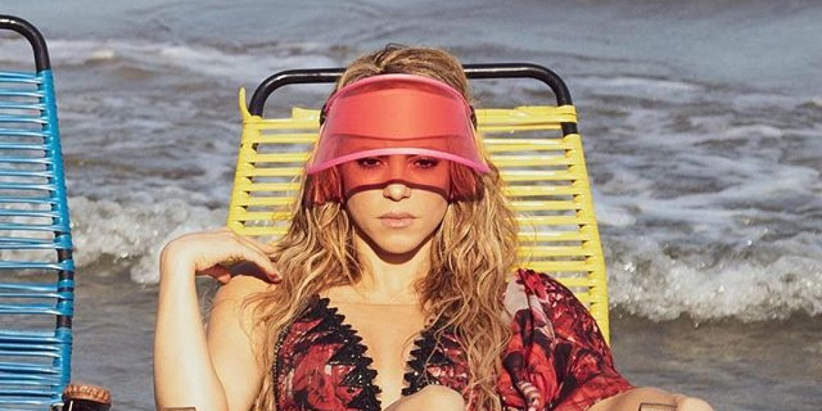Shakira en el rodaje del videoclip de 'Clandestino'