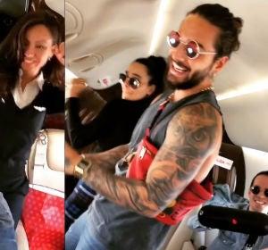 Maluma bailando en su jet privado 'Mala Mía'
