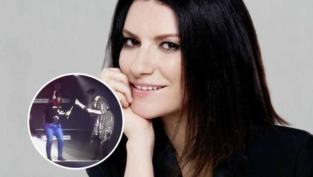 Una fan golpea a Laura Pausini en la cara en un concierto