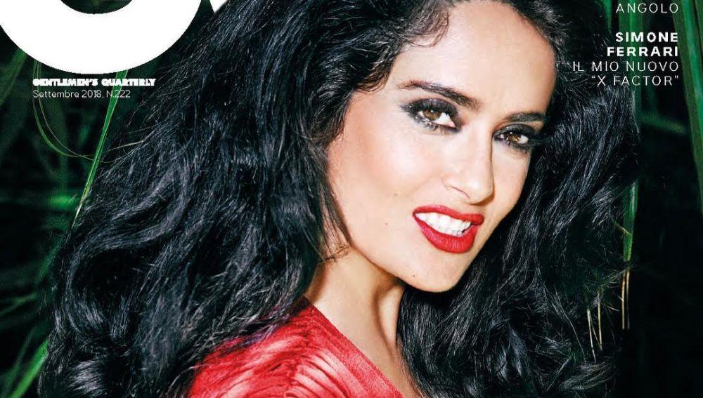 Salma Hayek para la portada de la revista GQ