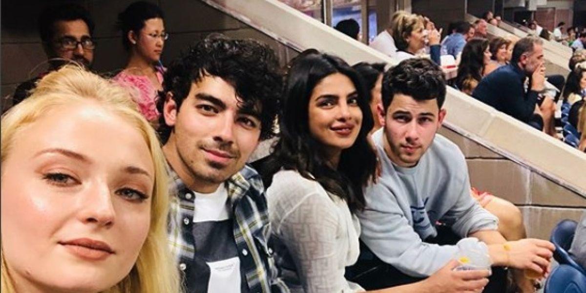 Sophie Turner, Joe Jonas, Pryianka Chopra y Nick Jonas
