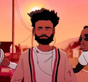 Childish Gambino en el videoclip de 'Feels Like Summer'