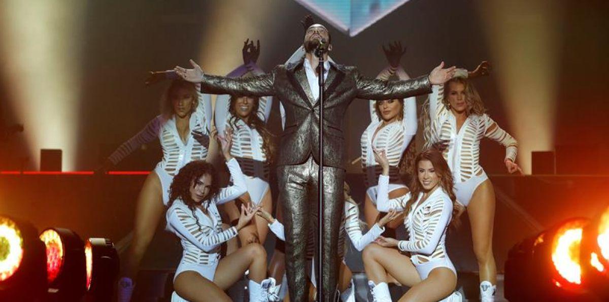 Maluma en su concierto en el WiZink Center de Madrid