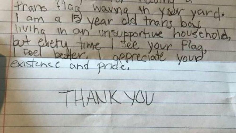 Carta del adolescente a la vecina