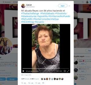 Esta abuela de 84 años se ha unido a un challenge viral y los tuiteros se han enamorado