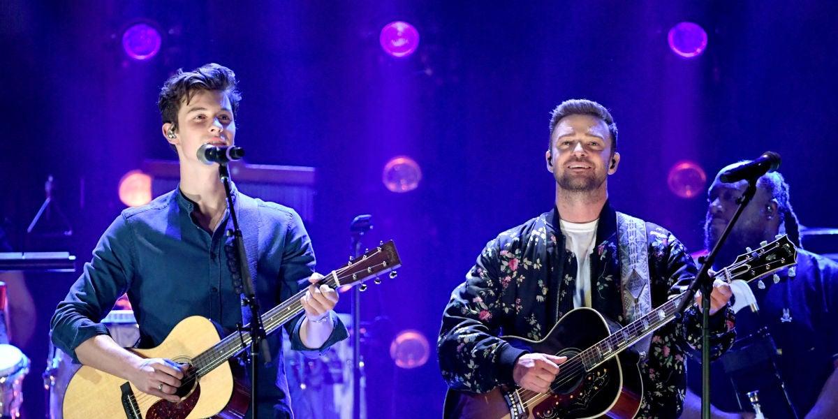 Justin Timberlake y Shawn Mendes