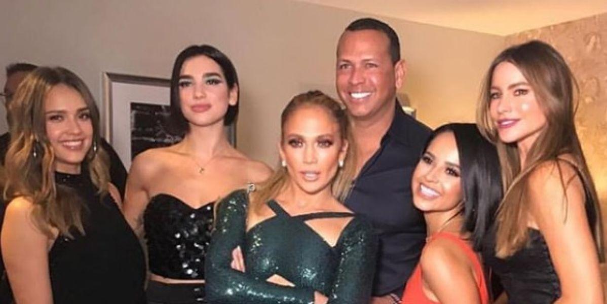 Jessica Alba, Dua Lipa, Jennifer Lopez, Alex Rodríguez, Becky G y Sofía Vergara