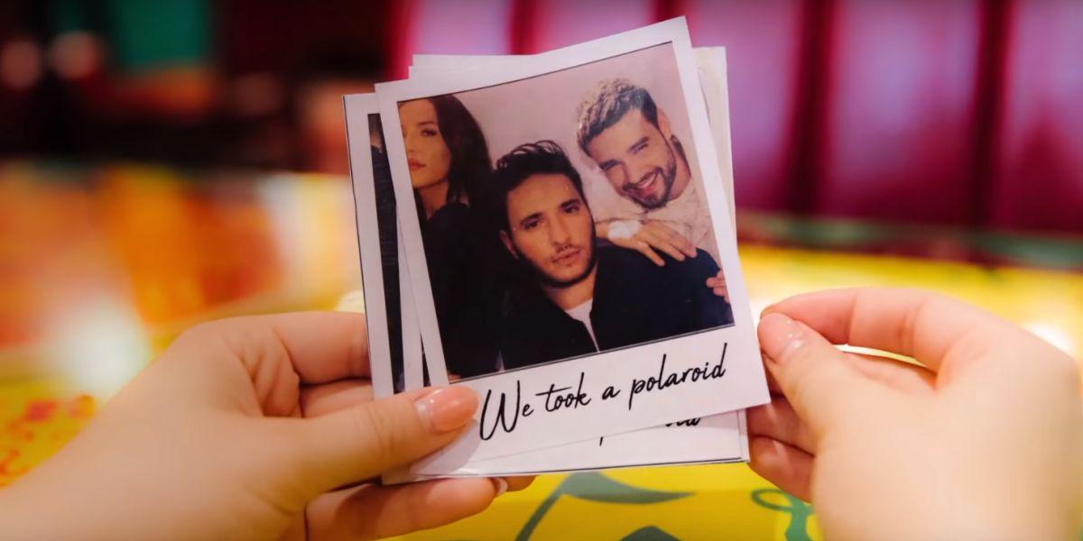 Jonas Blue, Liam Payne y Lennon Stella en el videoclip de 'Polaroid'
