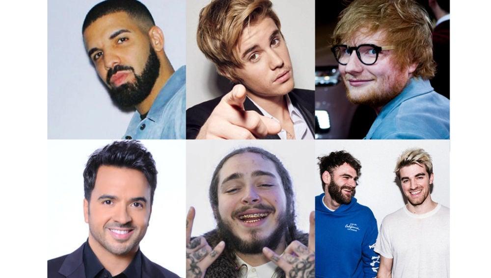 Los artistas más escuchados en Spotify