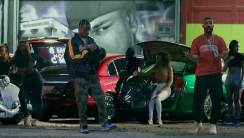 Travis Scott y Drake en el videoclip de 'Sicko Mode'