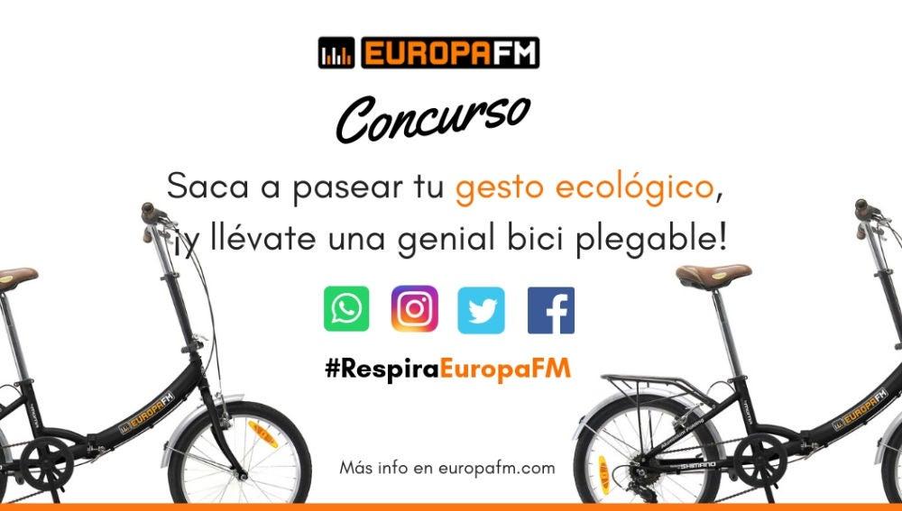 #RespiraEuropaFM y gana bicis plegables