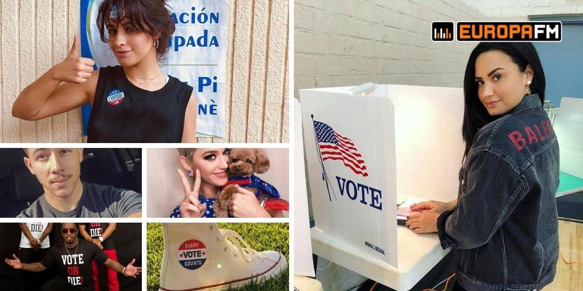 Los famosos se vuelcan con las elecciones de medio término de Estados Unidos
