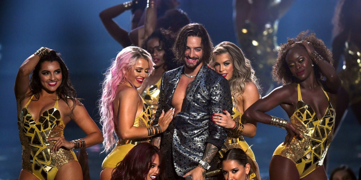 Maluma en MTV Video Music Awards 2018