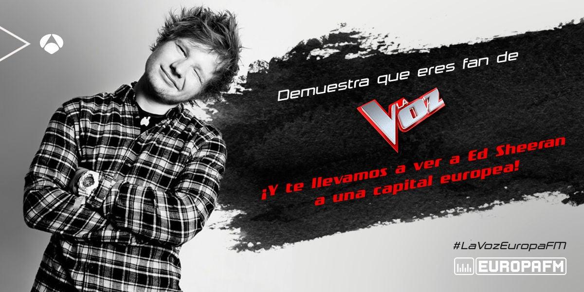 Concurso: Te llevamos a ver a Ed Sheeran con La Voz