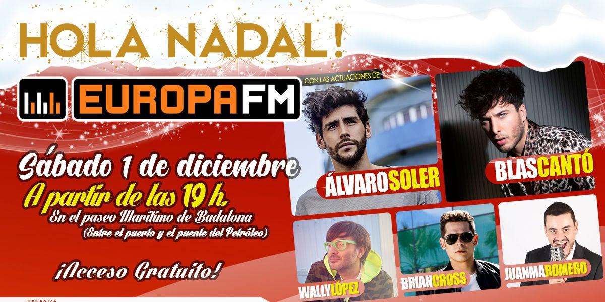 Hola Nadal, el concierto de Europa FM en Badalona