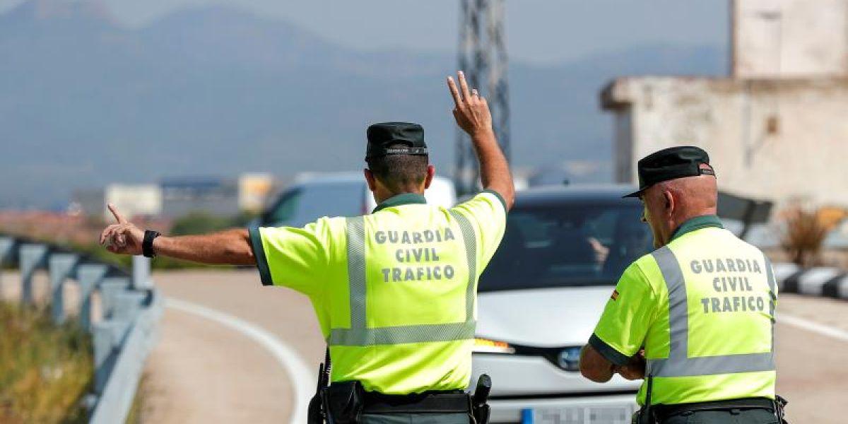 Efectivos de la Guardia Civil realizan un control