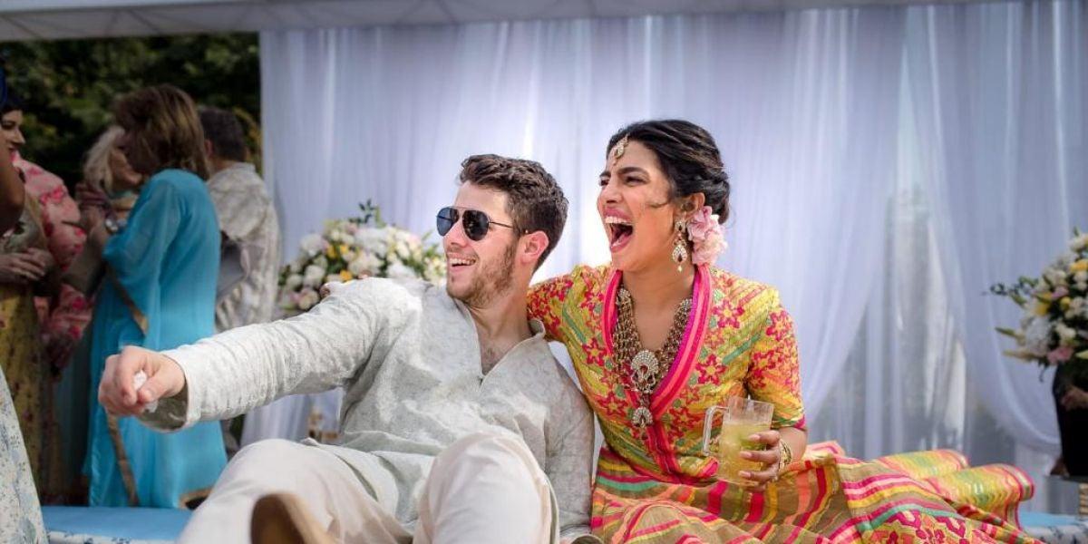 Nick Jonas y Priyanka Chopra en su preboda