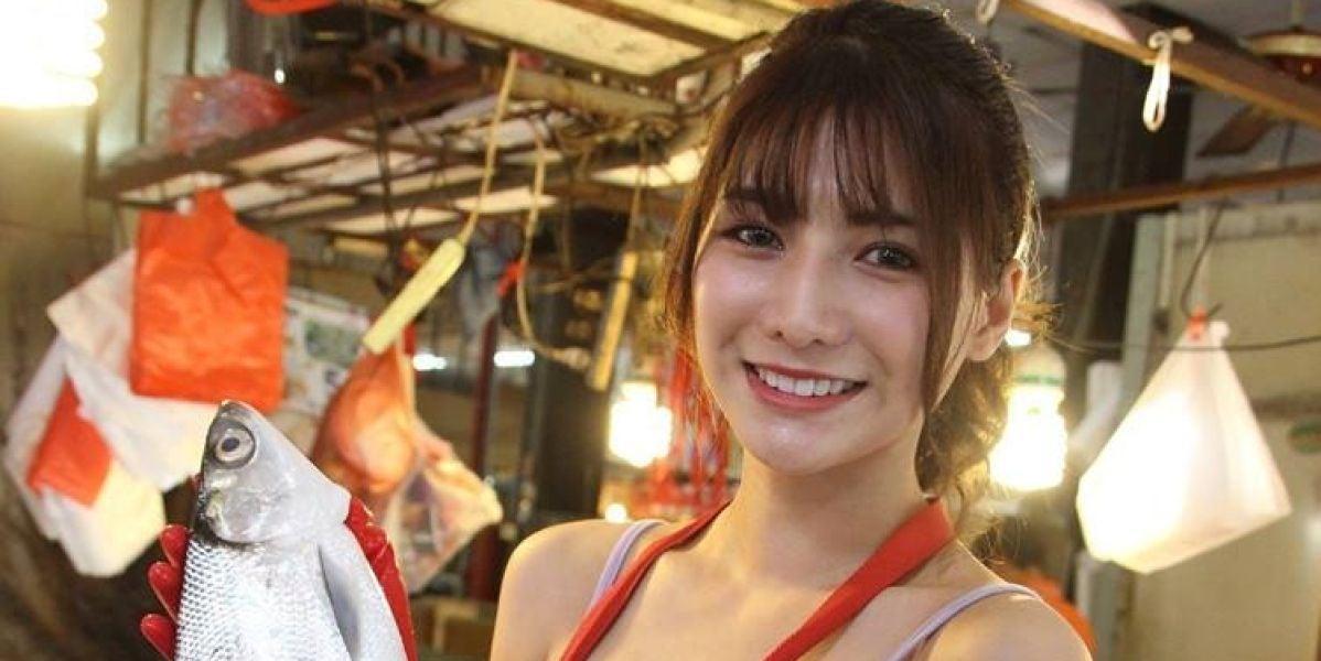 """Liu Pengpeng, bautizada como """"la pescadera más bella de Taiwán"""""""