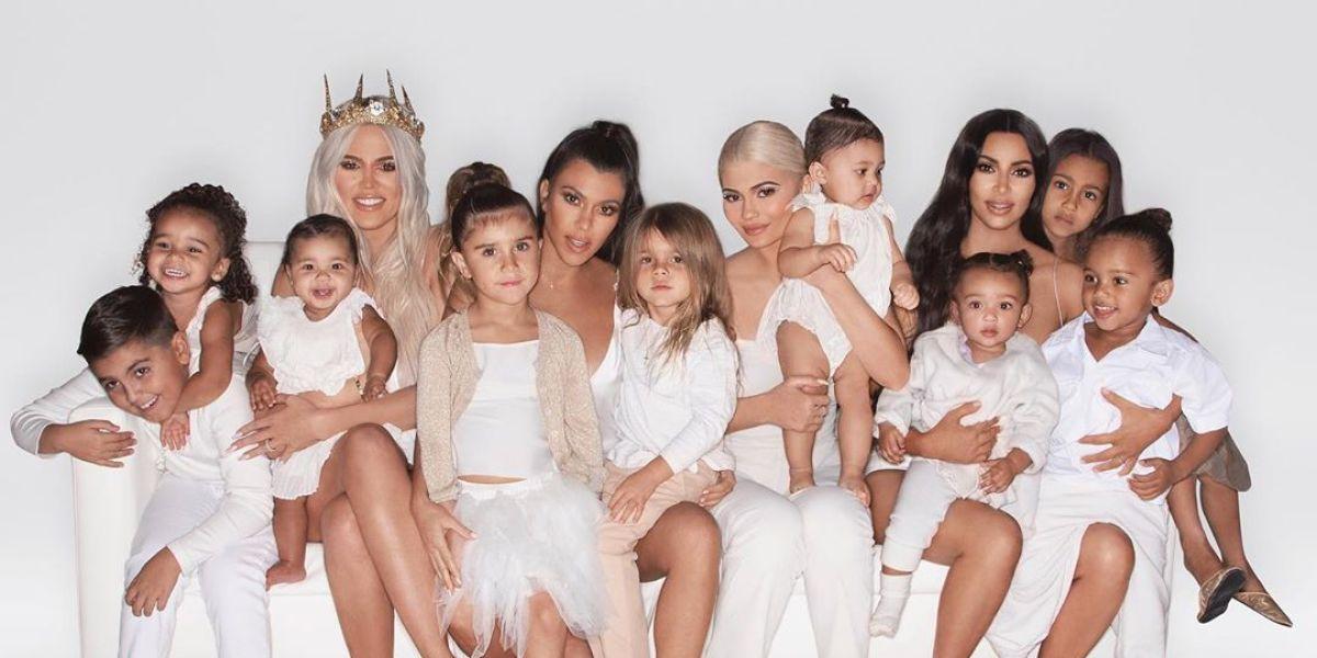 El posado navideño de las Kardashian
