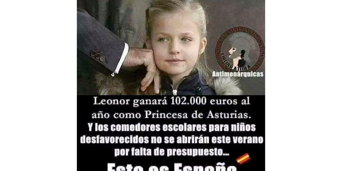 Meme sobre la Princesa Leonor