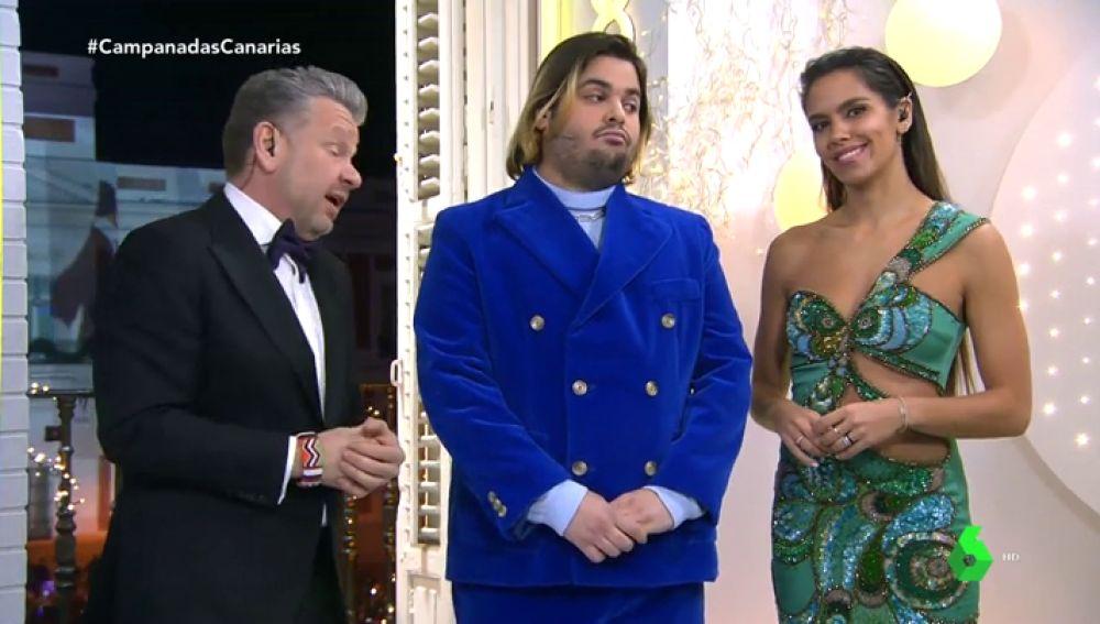 El vestido de Cristina Pedroche en las Campanadas de Canarias que lució junto a Brays Efe y Alberto Chicote