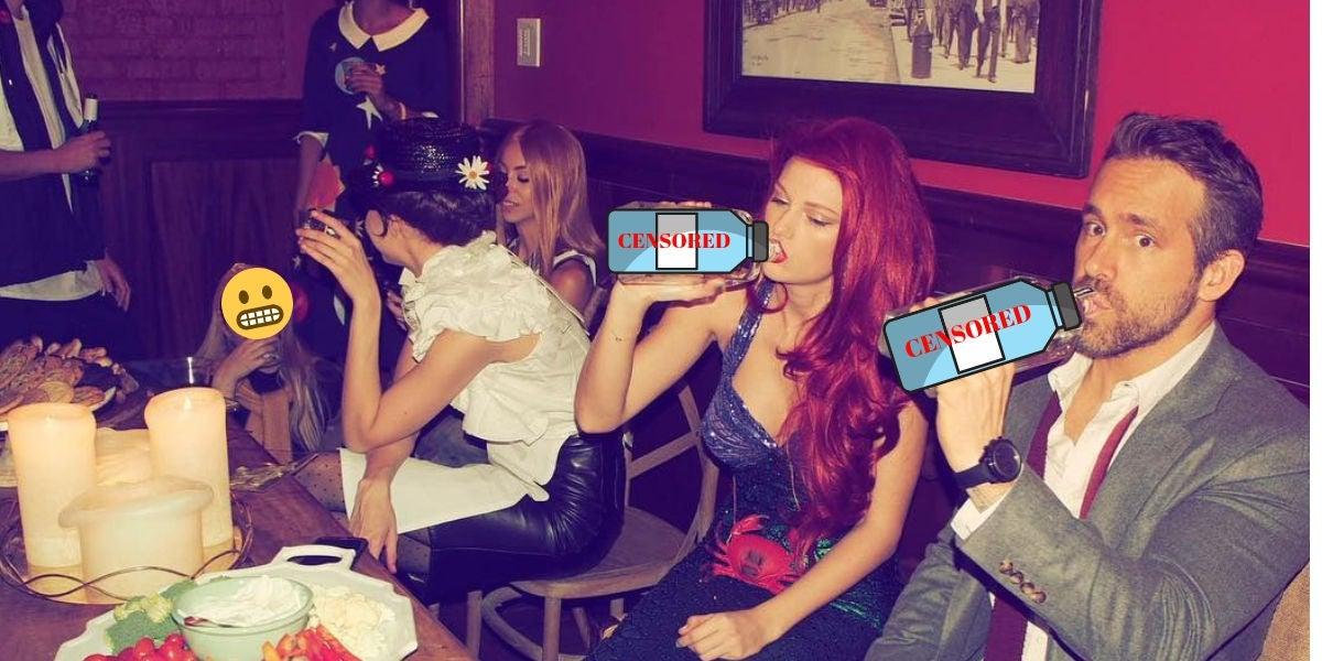 Taylor Swift y Ryan Reynolds en la fiesta de disfraces de Año Nuevo
