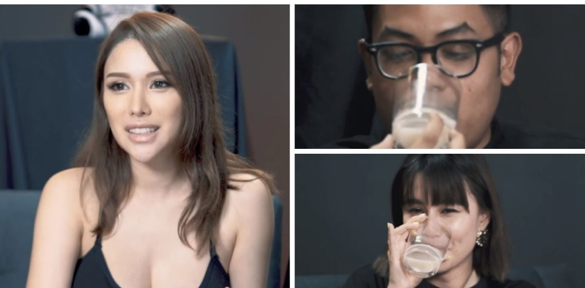 Una presentadora da de probar su leche materna a sus compañeros de programa