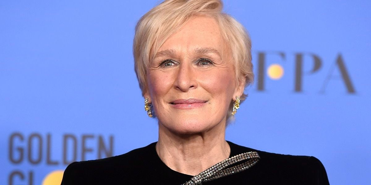 Glenn Close en los Globos de Oro 2019
