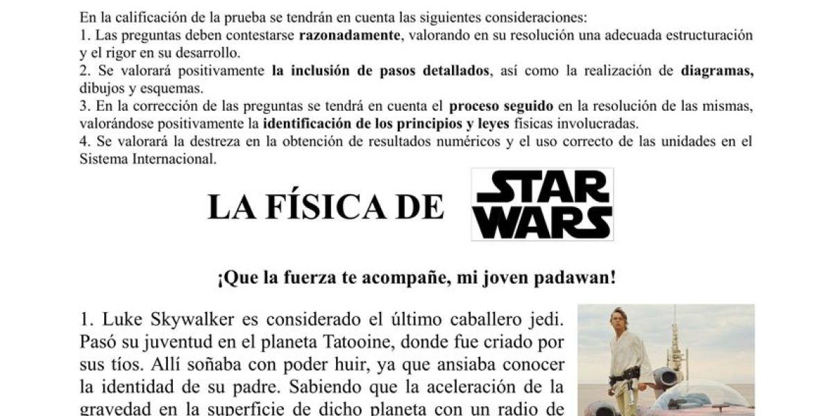 Examen de física de 'Star Wars'