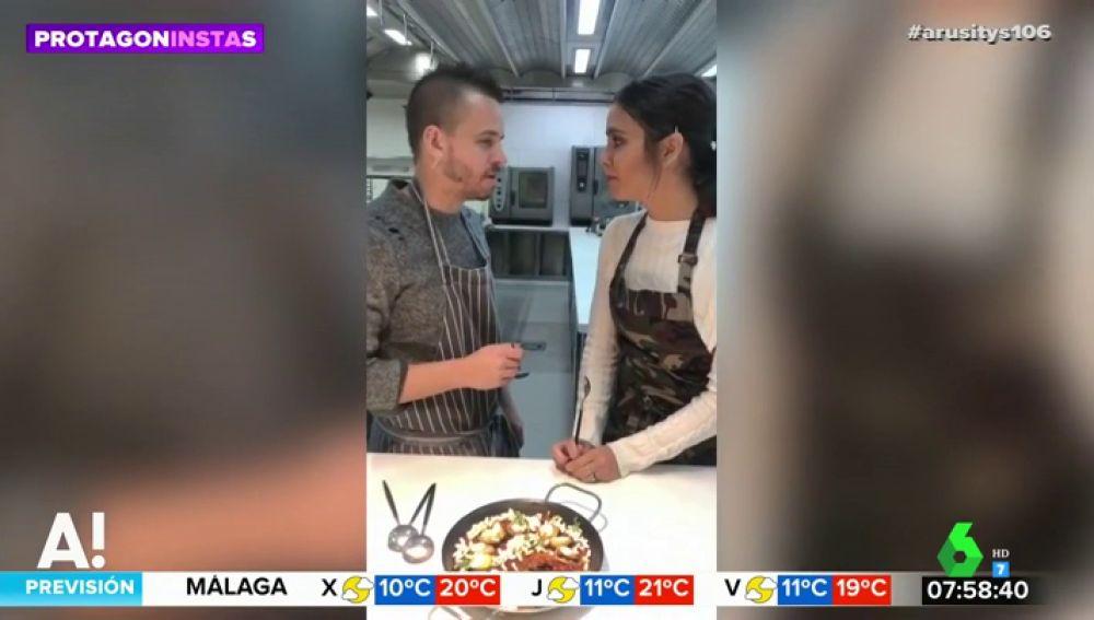 """Cristina Pedroche y Dabiz Muñoz nos sorprenden con una nueva receta: """"Aunque esté muy bueno, no es gracias a ti"""""""