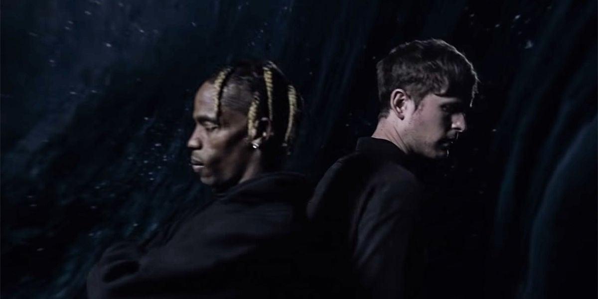 Travis Scott y James Blake en el vídeo de 'Mile High'