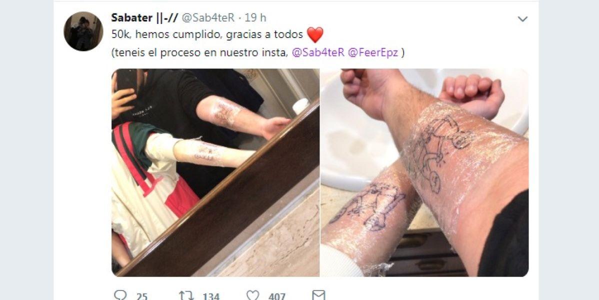 Captura del tuit de @Sab4teR