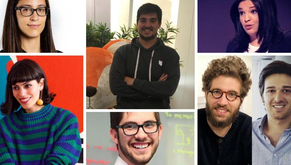 Cristina Aleixendri Muñoz, Sergi Baños Lara, Valeria Palmeiro, Fátima Mulero Álvarez, David Mayoral, Ignacio Bachiller y Francisco Hein